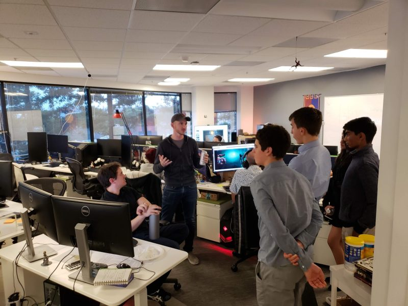 Business and entrepreneurship students visit innovative gaming startup