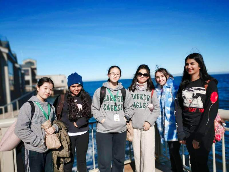 Shanghai World Foreign Language Academy students experience Harker during annual visit