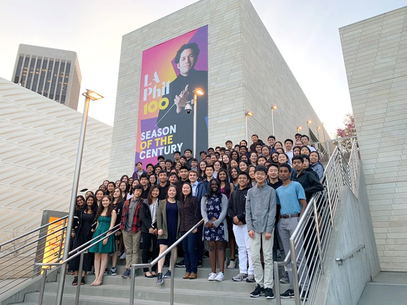 Orchestra visits LA for performance, workshops and recording session