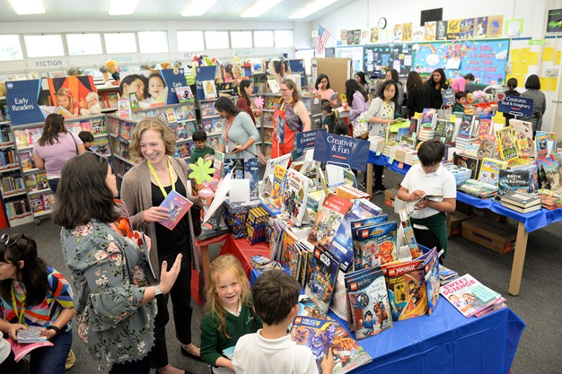 Lower school library hosts annual Book Fair