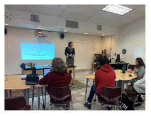 Entrepreneur speaks to CareerConnect group