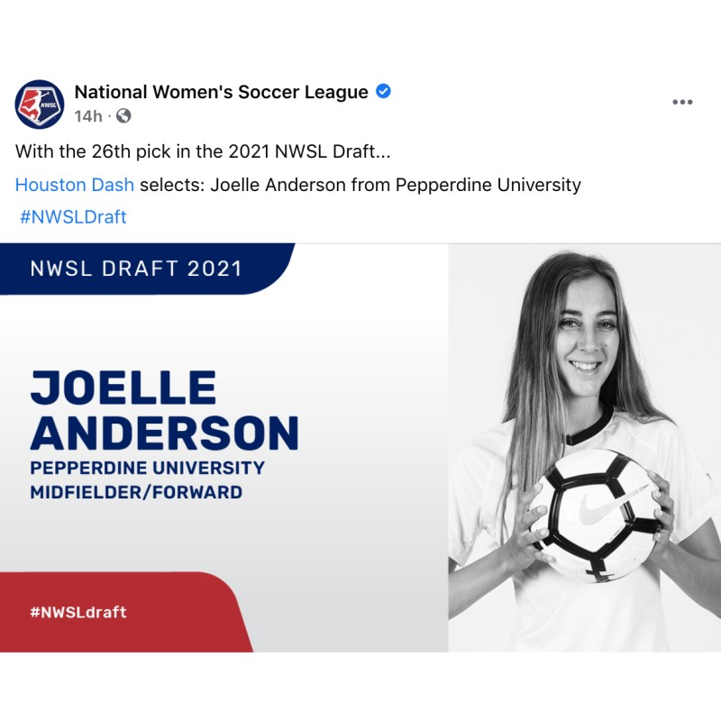 Anderson '17 selected 26th overall in NWSL draft