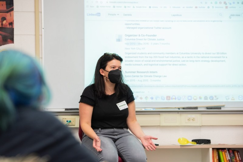Daniela Lapidous '12 talks to Green Team on climate action
