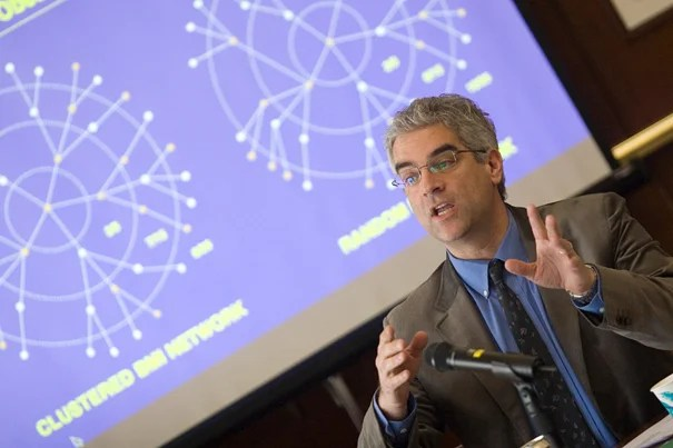 "Nicholas Christakis: ""All kinds of bad things spread through social networks: suicide, germs, drug abuse, unhappiness."" But good things come too."