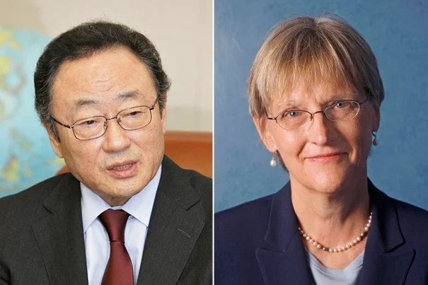 Il SaKong and President Drew Faust