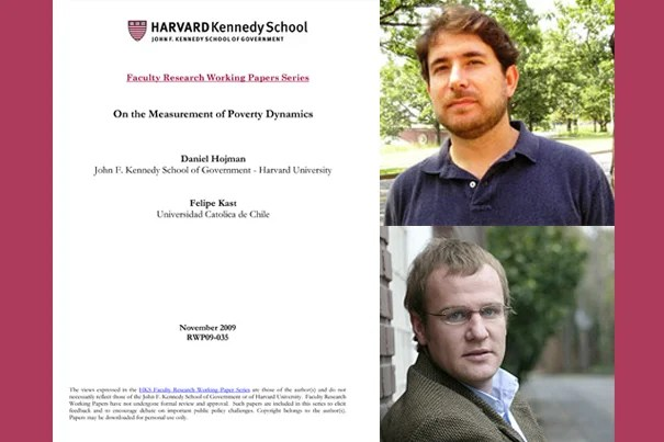 """A new Harvard Kennedy School working paper, """"On the Measurement of Poverty Dynamics,"""" co-authored by Daniel A. Hojman (top) and Felipe Kast, outlines a more precise method of comparing poverty levels and changes over time, and between countries."""