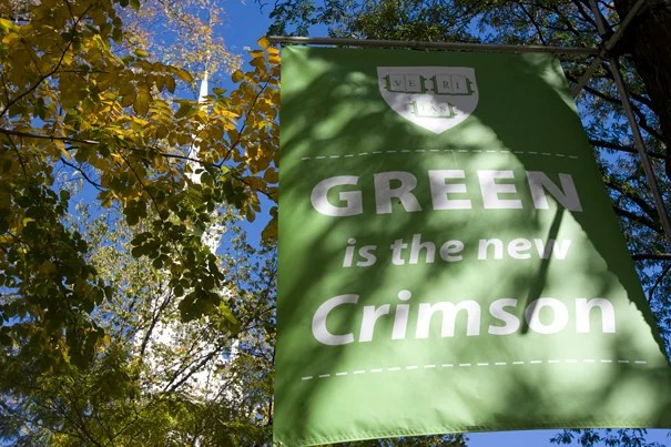 Harvard University has been announced as one of three schools in the Ivy League that were recognized by the U.S. Environmental Protection Agency as 2009-10 Collective Conference Champions for using green power.