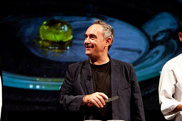 """Cooking never, ever got into university,"" said renowned chef Ferran Adrià during a public lectures at Harvard's Loeb Drama Center. ""Tomorrow, all the world will be talking about this moment."""