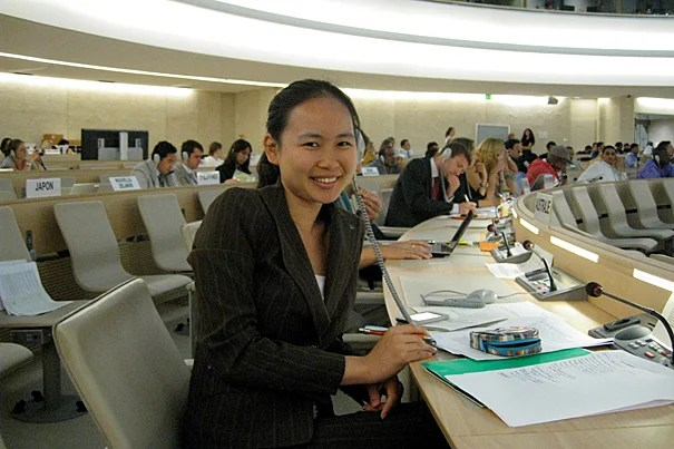 In Geneva, Linda Zhang '12 also worked on the U.N.'s new Expert Mechanism on the Rights of Indigenous Peoples.