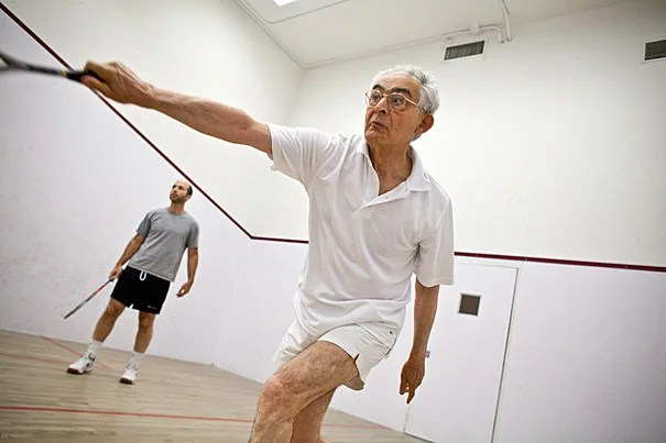 At 72, Patrice Higonnet (right) remains a challenging opponent for History Professor Erez Manela (left).