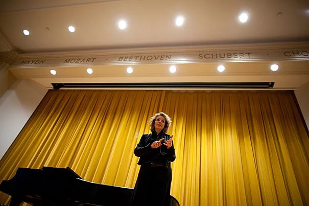"""Last winter Bridget Haile '11, an aspiring opera singer, participated in a master class with famed soprano Renée Fleming (pictured). """"Great performers are not always great teachers,"""" Haile says, """"but Ms. Fleming gave me detailed technical advice to improve my singing. She was very generous with her compliments. I'll never forget that afternoon."""""""