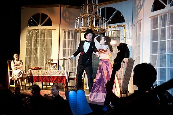 "The Dunster House Opera Society production of ""Die Fledermaus"" takes the stage."