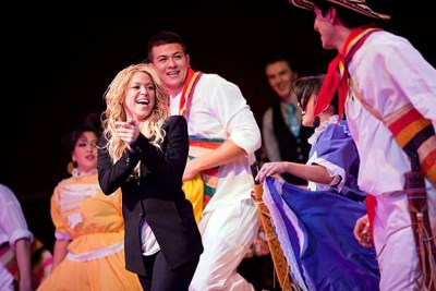 Twelve Harvard College student groups representing various cultures from around the world performed for Colombian-born singer and philanthropist Shakira, who received the Harvard Foundation's 2011 Artist of the Year award on Feb. 26.