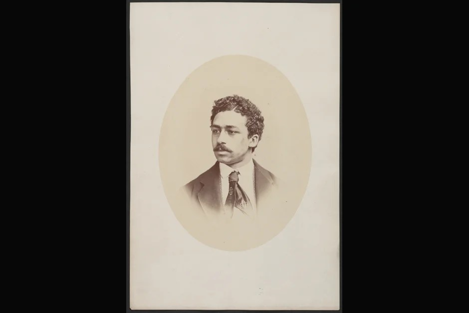 """Richard T. Greener was the first black to enter the College and to complete the undergraduate curriculum with an A.B. in 1870 (""""winning the chief prizes in writing and speaking along the way""""). He was not, however, the first black to be admitted, a distinction belonging to Beverly Garnett Williams, in 1847. (He died just before the academic year began and thus never entered the College.) Photo ca. 1870. Credit: Harvard University Archives, call # HUP Greener, R.T. (2a)"""