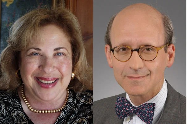 Harvard's Board of Overseers names Leila Fawaz (left) as president and Robert Shapiro as vice chair of the executive committee for 2011-12.