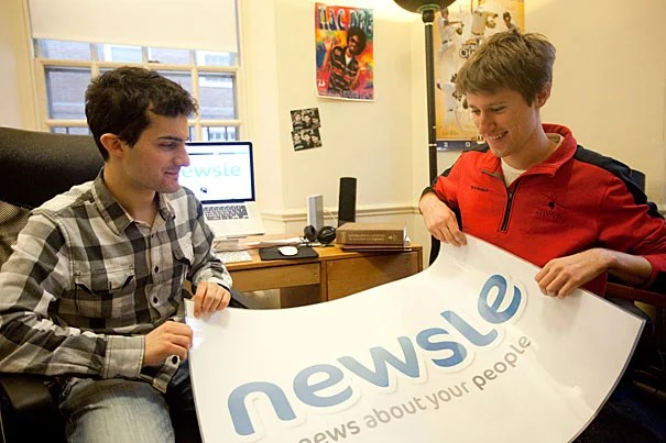 "Jonah Varon (right) and Axel Hansen, two Harvard sophomores, have created a new website that seeks to out-Google Google when it comes to tracking down news about your friends. ""Facebook is so full of social noise that you don't get the important stuff,"" Varon said. ""There's less content here than if you went to [someone's] Facebook page, but it's more meaningful."""