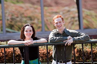 Marcel Moran '11 of Eliot House and Annie Douglas '12 of Adams House, this year's David and Mimi Aloian Memorial Scholars, will be honored at the Harvard Alumni Association's fall dinner.