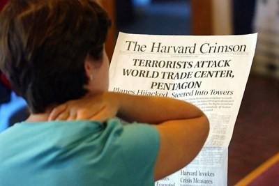 """""""In just a few weeks, the world will mark the 10th anniversary of the Sept. 11 attacks, a fitting time to come together as a community to reflect, to mourn, and to consider the ramifications for the survivors, the nation, and the world,"""" wrote Homi Bhabha, the Anne F. Rothenberg Professor of the Humanities, in a letter to the Harvard community."""