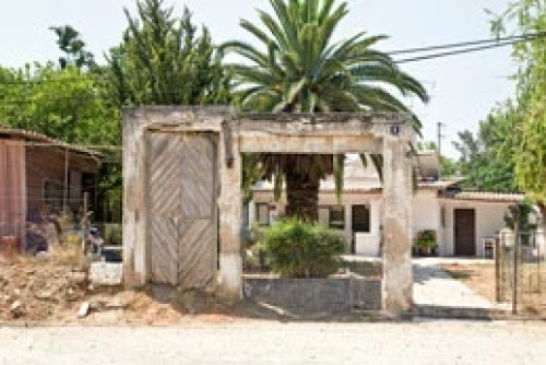 """Gate from former Palestinian home, Yehudiyya, Israel"""