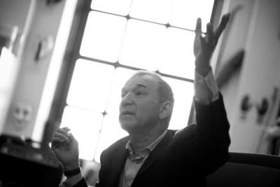 John Cogan University Professor of the Humanities Stephen Greenblatt participates in a Q&A interview the Harvard Gazette in his Widener Library office at Harvard University. Stephanie Mitchell/Harvard Staff Photographer