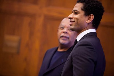 The musician Prince's painful past as a child of divorce is the key to understanding what makes him tick — and what makes him an icon to Generation X, according to Touré (right), the cultural critic and author. Touré was introduced by 	Henry Louis Gates Jr. (left), the director of the W.E.B. Du Bois Institute for African and African American Research.