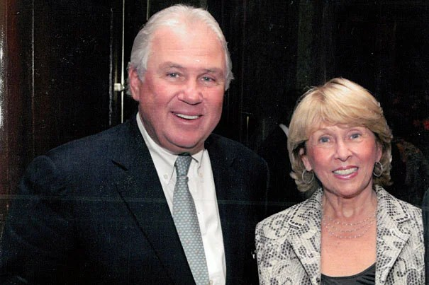 """""""Harvard has played a very important role in my life,"""" said Joseph J. O'Donnell (left), an alumnus and longtime Harvard benefactor. """"Kathy and I are pleased to have this opportunity to support [Harvard President Drew Faust] and the deans as they guide  the University forward."""""""
