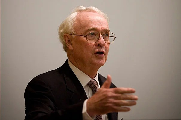"""Political scientist James Q. Wilson, who died March 2 at 80, was the Henry Lee Shattuck Professor of Government at Harvard in 1982 when he and then-Harvard Kennedy School fellow George Kelling published a groundbreaking article in The Atlantic called """"Broken Windows."""" Their hypothesis was simple, but it articulated a philosophy of law enforcement that had yet to be named: Disorder in a community, if left unattended, would likely lead to more disorder."""