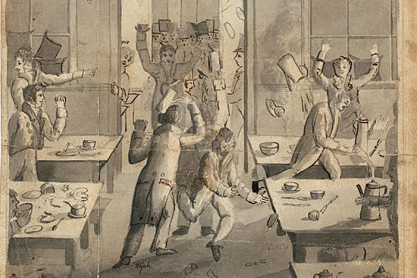 """Harvard's era of dissent began with the """"Great Butter Rebellion"""" of 1766. It was the first known student protest on an American campus and for a time led to half the student body being suspended."""