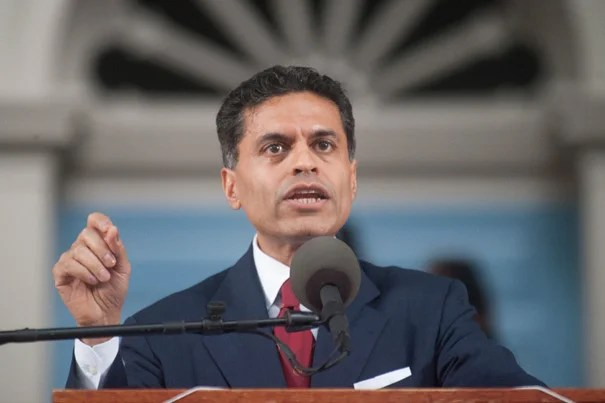 "Fareed Zakaria, who delivered the 2012 Commencement address during the Afternoon Exercises, cited recent research showing that violence is at a historic low and economic growth is high. ""I'm betting on the graduates of this great university. ... Your efforts will make a difference."""