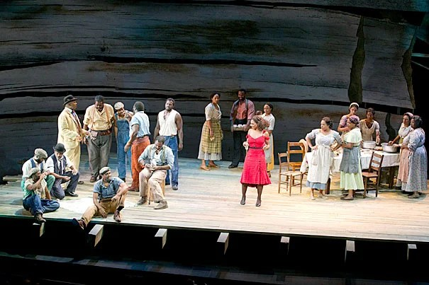 """The A.R.T.'s """"The Gershwins' Porgy and Bess"""" — a Tony Award winner for best musical revival — was nominated in 10 categories and also scored a best actress award for Audra McDonald's (above, red dress) wrenching performance as Bess in the classic American opera."""