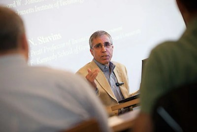 """My view is that the best thing that Harvard can do [to combat climate change] is to carry out first-rate research, combined with the best possible teaching, and effective outreach to the public sector and the private sector. That's our comparative advantage,"" said Robert Stavins, Albert Pratt Professor of Business and Government at Harvard Kennedy School."