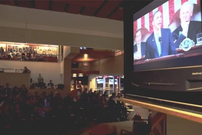 Hundreds of students from both sides of the political aisle gathered at the John F. Kennedy Jr. Forum for a watch party sponsored by the Institute of Politics (IOP). Popcorn, soda, and big-screen television aside, they were there for more than just political theater.