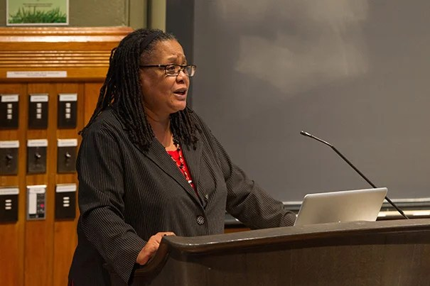 Harvard College Dean Evelynn M. Hammonds will step down as dean on July 1. She has chosen to return to teaching and research in the departments of the History of Science and African and African American Studies.