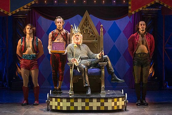 """A.R.T.'s """"Pippin"""" was nominated for 10 Tony Awards. Among the nominees was Terrence Mann (center) as King Charlemagne. Mann was nominated for best performance by an actor in a featured role."""