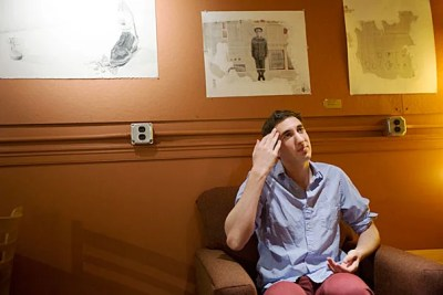 """""""I like doing things my own way,"""" said graduating senior Jesse Kaplan one recent afternoon as he set up chairs in Cabot Café, the cozy study spot and performance space that he launched two years ago in the Cabot House basement."""