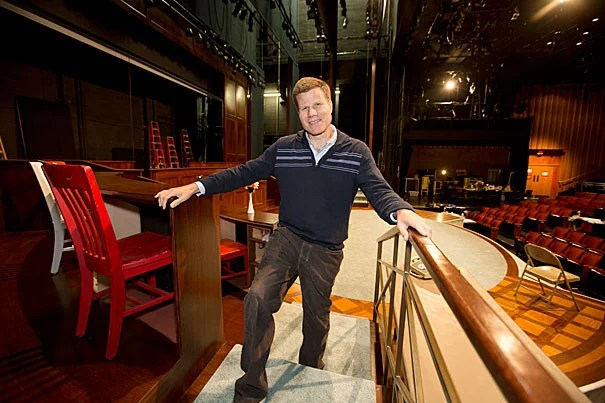 """Bill Rauch '84, the artistic director of the Oregon Shakespeare Festival, has returned to Harvard to direct Bryan Cranston as President Lyndon B. Johnson in """"All the Way."""""""