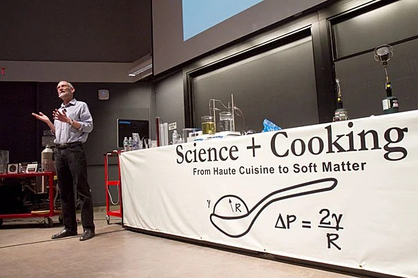 "New York Times columnist Harold McGee used history as his backdrop when kicking off the School of Engineering and Applied Sciences' ""Cooking and Science"" lecture series."