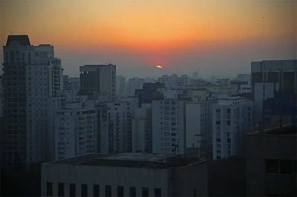A sunset view from the Brazil office of the David Rockefeller Center for Latin American Studies in downtown São Paulo. The regional hub supports Harvard faculty and students in research, teaching, and learning throughout the country.