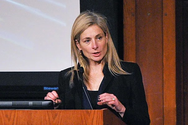 """""""In a world with many problems where progress isn't always clear, it is wonderful to see science so clearly advance and for us to be able to answer such basic questions that help us better understand our universe,"""" said Lisa Randall, the Frank B. Baird Jr. Professor of Science, on the discovery of the Higgs boson."""