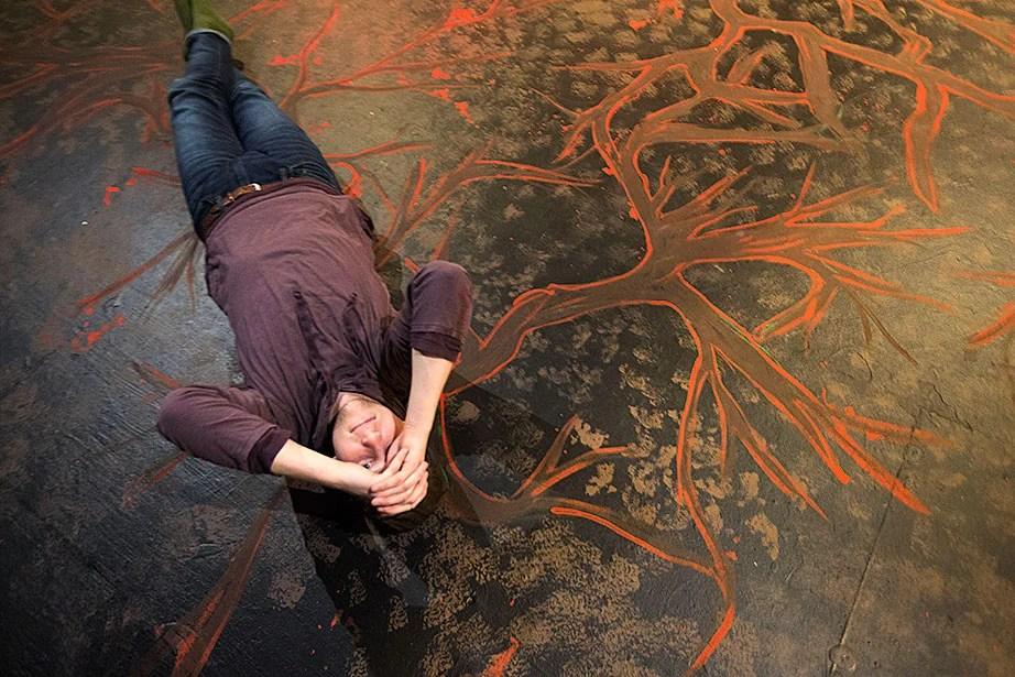 Matt Bialo '15 finds a moment of repose.
