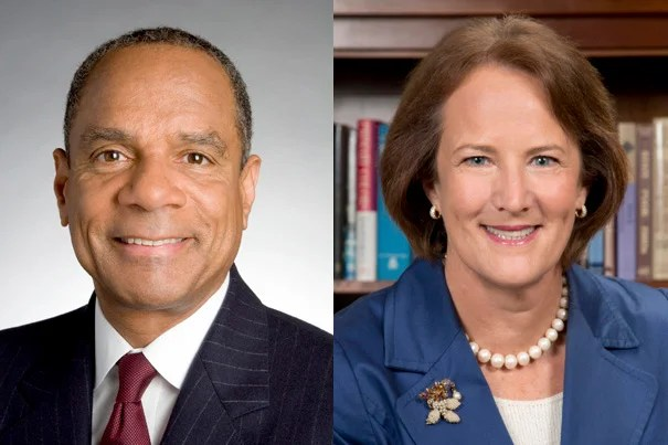 Kenneth I. Chenault, J.D.'76, and Karen Gordon Mills, A.B. '75, M.B.A. '77, were elected as Harvard Corporation members. They will begin their service as Fellows of Harvard College on July 1.
