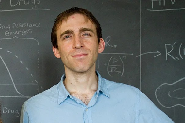 """Daniel Rosenbloom, a postdoctoral researcher in Harvard's Program for Evolutionary Dynamics, and colleagues provide the first evidence that the rock-paper-scissors dynamic can lead to higher mutation rates as organisms search for the next """"winning"""" strategy."""