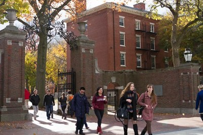 """The Class of 2018 will have a record number of African-Americans (177) and Latinos (185), as well as the second-largest number of Asian-Americans (351) in Harvard's history. """"We are very grateful to the many involved in the Undergraduate Minority Recruitment Program [UMRP] who worked toward these results throughout the year, and especially during the crucial month of April,"""" said Roger Banks, director of recruitment and co-director of UMRP."""