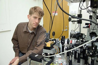 """A new technique for observing neural activity will allow scientists to stimulate neurons and observe their firing pattern in real time. """"This is a tool for looking in great detail at how signals flow through neurons, and how the signal flows through circuits of neurons,"""" said Adam Cohen, professor of chemistry and chemical biology and of physics."""