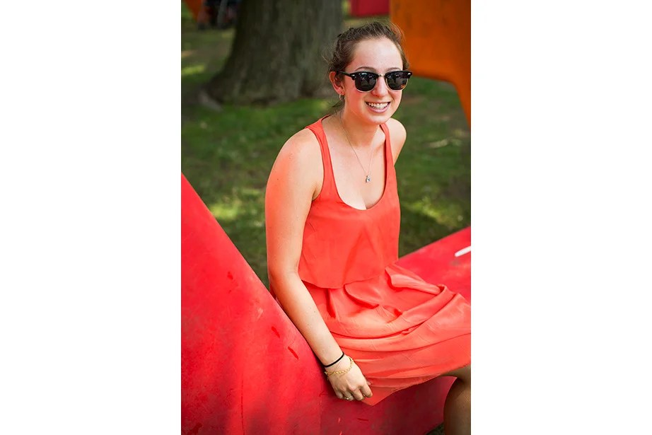 """""""I like to wear dresses,"""" said Tufts student Danielle Polland, who's working in a Harvard psychology lab. The native New Yorker plans to explore the region this summer. """"I'm headed to Cape Cod and Newport!"""""""