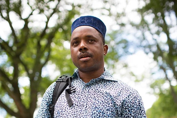 """This is an African hat,"" said West Africa-born Boubacar Diakite, a professor in the Department of African Studies. ""Once you reach 40, you wear it every day. It's a sign of wisdom."""
