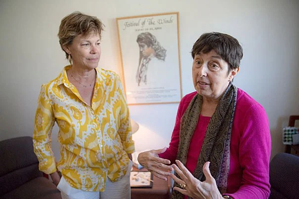 Harvard professor Barbara Hamm (left) directs the Victims of Violence program, founded by Judith Herman (right),  a clinical professor of psychiatry at Harvard Medical School, and Mary Harvey, an associate clinical professor of psychology at HMS (not pictured).