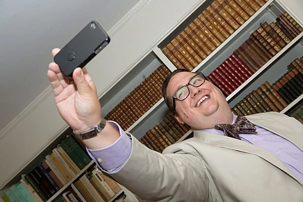 Kyle Courtney, a librarian and lawyer who works out of the Office for Scholarly Communication, advises students, staff, faculty, and many of the University's 73 libraries on copyright issues, including selfies.