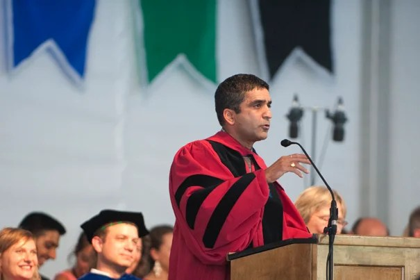 """College is not a stop on the way to the rest of your life — this is your life,"" Dean Rakesh Khurana told the Class of 2018."