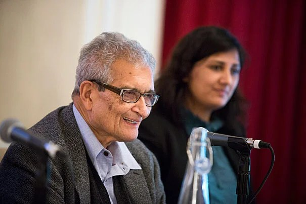 "The ""slow-burning genocide"" of Burma's Rohingya, a Muslim minority, was the focus of Harvard scholars and Burmese activists gathered at Loeb House this week. Professor Amartya Sen (left, photo 1) said that it's important that the international community pressure the government to change its official policy and restore citizenship to the group. Malik Mujahid (photo 2), chair of the Parliament of the World's Religions and president of Justice for All, showed aerial photos of neighborhoods burned to ash. He said the residents of these neighborhoods were marched off to internment camps, where 140,000 live today, often without enough to eat."